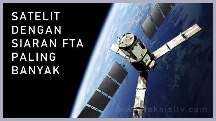 Satelit Dengan Siaran FTA Paling Banyak.