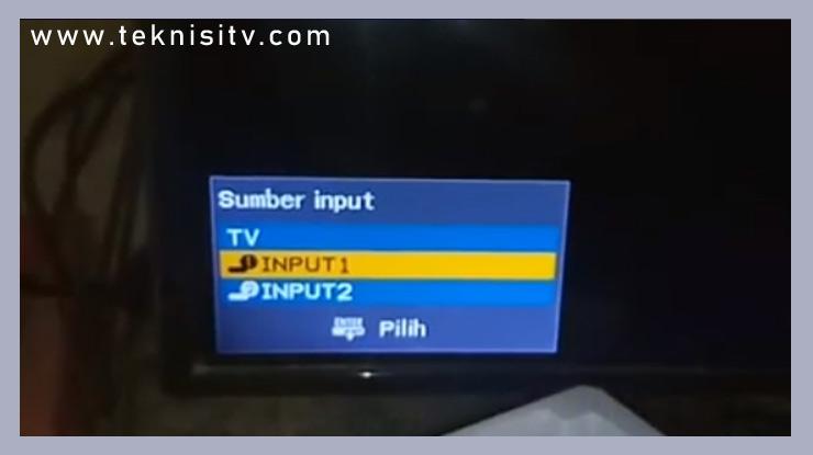 pilih atau ubah input saluran di TV ke HDMI