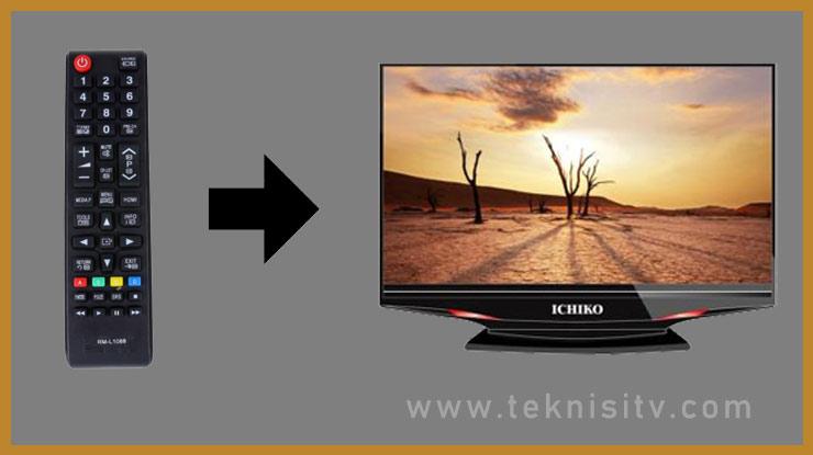 Cara Memasukan Kode Remote TV Ichiko pada Remote Universal