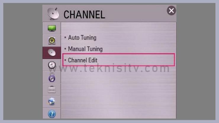 Menghapus Channel TV Pada TV LED LCD