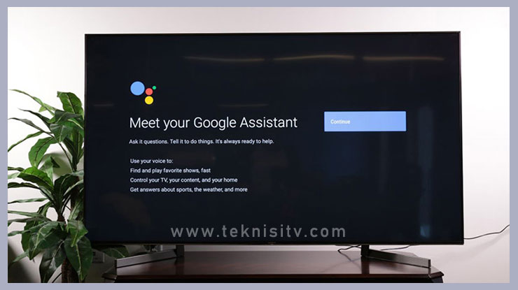 Menghidupkan TV Menggunakan Perintah Suara