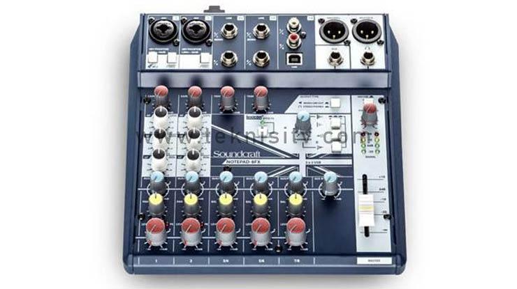 Mixer Soundcraft Notepad 8FX 2