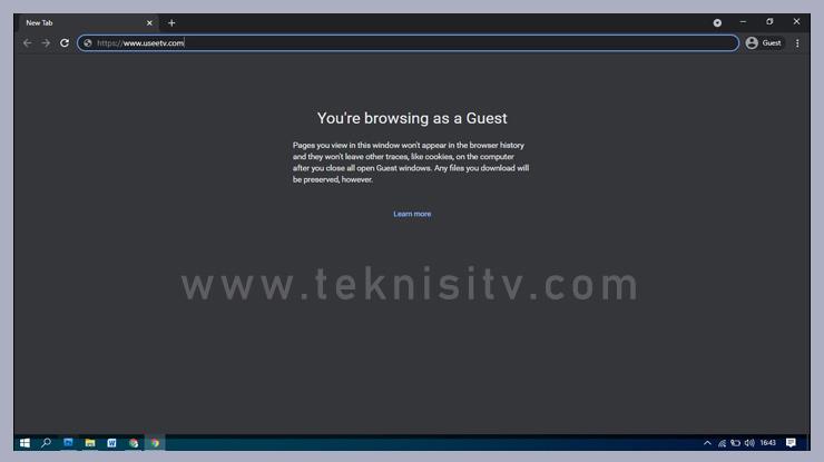 Pertama buka browser